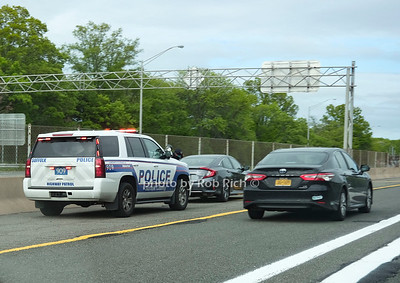 Although there were not many police present on the LIE on the way to the Hamptons on friday, some pedestrians still got pulled over. May 22, 2020: Hamptons photo by Rob Rich/SocietyAllure.com ©2020 robrich101@gmail.com 516-676-3939