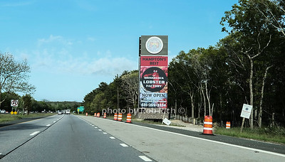 Shinnecock nation billboard on Montauk Highway going East. May 22, 2020: Hamptons photo by Rob Rich/SocietyAllure.com ©2020 robrich101@gmail.com 516-676-3939
