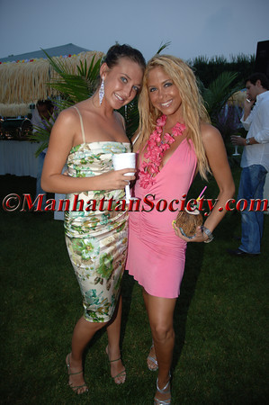 """Anna Anisimova & Samantha Cole WATERMILL, NEW YORK-AUGUST 13: Guests attend Young Friends of MIPC Annual Summer Bash """"Hawaii 5-0""""  to Benefit Dr. Robert Cancro and the Mental Illness Prevention Center of NYU at 33 Mill Creek Close, Watermill, New York on Saturday. August 13, 2005 (Photo Credit: Gregory Partanio/ManhattanSociety.com)"""