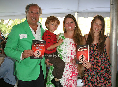 Stewart Lane, Bonnie Comley, Frankie Lane, Leah Lane: Jews on Broadway attend the 7th Annual East Hampton Library Authors Night at the East Hampton Library. (August 13, 2011)