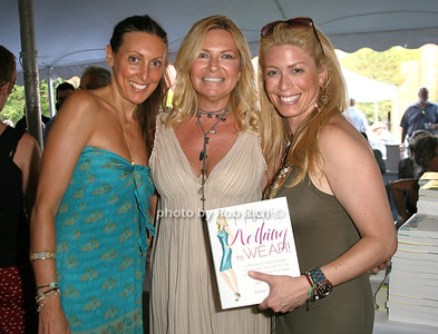 Dana Ravage, Debra Halpert, Jill Martin: I have Nothing to Wear attend the 7th Annual East Hampton Library Authors Night at the East Hampton Library. (August 13, 2011)