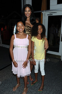 Ming Simmons, Kimora Lee Simmons, and Aoki Simmons attend the Art for Life benefit at the home of Russell Simmons (July 30, 2011)