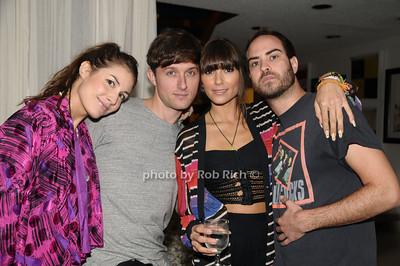 Vanessa Gaovahini, Justin Miller, Mary  Louise Pels, DJ Jeffery Tonnesen photo by Rob Rich © 2009 robwayne1@aol.com 516-676-3939