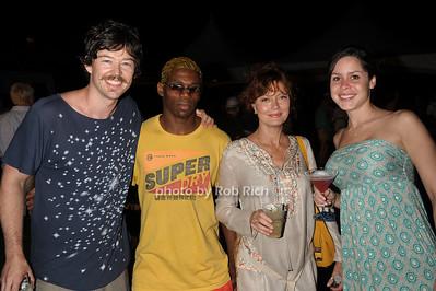 Jonathan Bricklin, Wally Green, Susan Sarandon, Victoria Perez photo by Rob Rich/SocietyAllure.com © 2011 robwayne1@aol.com 516-676-3939