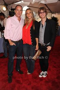 Josh Guberman, Morgan Shara , and  Frankie Vinci attend  the Hamptons Rocks for Charity concert at East Hampton Studio (September 1, 2011)