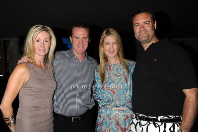 Jennifer Pappalardo, John Pappalardo. Kathy Reilly , and Kevin Scherer attend  the Hamptons Rocks for Charity concert at East Hampton Studio (September 1, 2011)