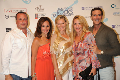 Lou Ruggerio, Rosanna Scotto, Avis Richards,guest, and  Bruce Richards attend  the Hamptons Rocks for Charity concert at East Hampton Studio (September 1, 2011)