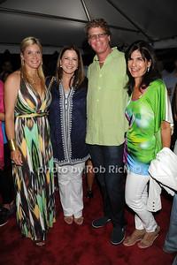 Michelle Schwarzman, Ellen Crown, Howard Swarzman, and Karen Frank attend  the Hamptons Rocks for Charity concert at East Hampton Studio (September 1, 2011)