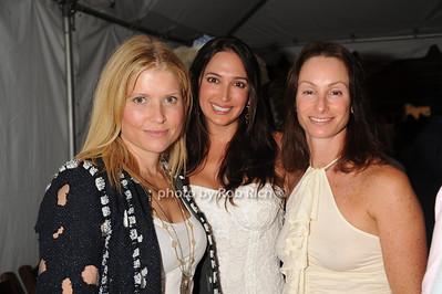 Sonya Chodry, Lauren Silverman and  Jodi Schwalb attend  the Hamptons Rocks for Charity concert at East Hampton Studio (September 1, 2011)