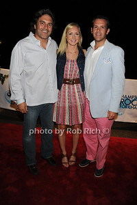 Michael Wudyka, Alice Cooley,  and Carl  Irace attend  the Hamptons Rocks for Charity concert at East Hampton Studio (September 1, 2011)