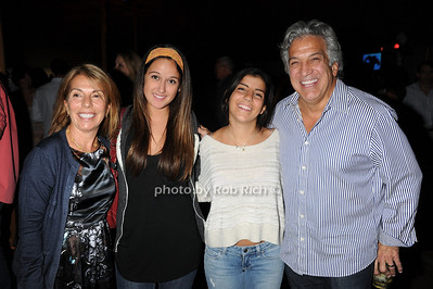 Georgina Curatola, Alex Curatola, Grace Curatola, and Gerry Curatola attend  the Hamptons Rocks for Charity concert at East Hampton Studio (September 1, 2011)