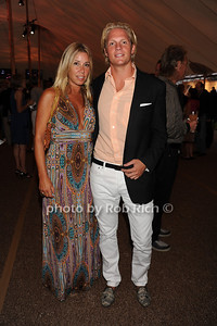 Lynn Calvo and Kyle Rosko attend  the Hamptons Rocks for Charity concert at East Hampton Studio (September 1, 2011)