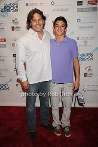 Michael Wudyka and Wyatt Wudyka attend  the Hamptons Rocks for Charity concert at East Hampton Studio (September 1, 2011)