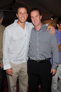 Chris Cuomo and   John Pappalardo attend  the Hamptons Rocks for Charity concert at East Hampton Studio (September 1, 2011)