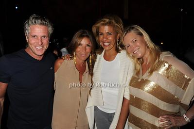 Donny Deutsch, Jennifer Miller, Hoda and Avis Richards attend  the Hamptons Rocks for Charity concert at East Hampton Studio (September 1, 2011)