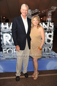Charles O'Donnell and  Susan Holmes attend  the Hamptons Rocks for Charity concert at East Hampton Studio (September 1, 2011)