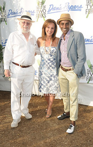 Dan Rattiner, Rosanna Scotto, and Mark Feuerstein attend Dan's Taste of Two Forks at Sayre Park (July 16, 2011)
