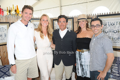 Eban Hall, Cassie Spreitzer, Max Amaya, Robyn Moreno, and Nick Lieghton attend Day 2 of the Hampton Classic Horseshow in Bridgehampton (September 1, 2011)