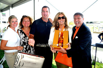 Kerry Gaynor, Aida Turturro, Mike Gaynor, Jill Rappaport, and Charles Ferrara attend  the ASPCA Champagne for Horses event at the Hampton Classic Horseshow. (September 1, 2011)