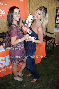 Caroline Hamilton  and Alexandra Carr attends the ASPCA Champagne for Horses event at the Hampton Classic Horseshow. (September 1, 2011)