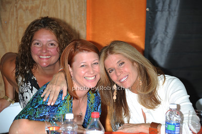 Aida Turturro, Nancy Perry, and Jill Rappaport attend  the ASPCA Champagne for Horses event at the Hampton Classic Horseshow. (September 1, 2011)