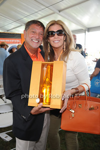 Charles Ferrara and Jill Rappaport attend  the ASPCA Champagne for Horses event at the Hampton Classic Horseshow. (September 1, 2011)