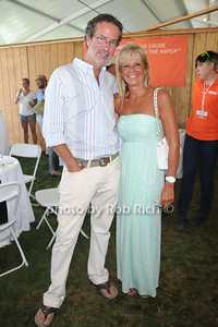 Chris Robbins and Sherri Abruzzese attend  the ASPCA Champagne for Horses event at the Hampton Classic Horseshow. (September 1, 2011)