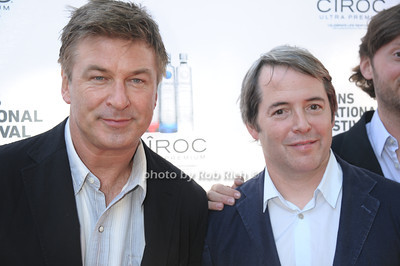 Alec Baldwin and Matthew Broderick attend the HIFF at Guild Hall. (October15, 2011)