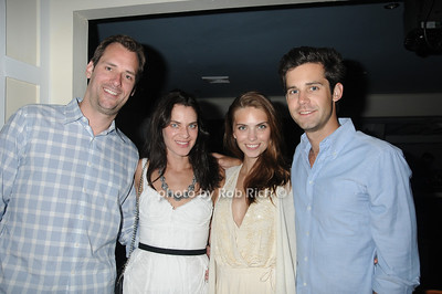 Rolf Heitmeyer, Kaia Peterka Heitmeyer, Emily Franco, and Matt Magnuson attend the official after party for the FEED Foundation at Georgica Restaurant   (June 18,2011)