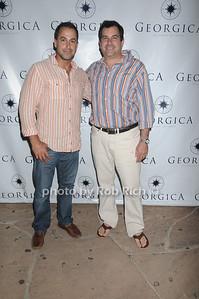 Michael Regensburg and Charles Regensburg  attend the Social Life cover party for Rachel Nichols  at Georgica Restaurant   (June 18,2011)