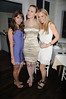 Rachel Heller, Devorah Rose, and guest  attend the Social Life cover party for Rachel Nichols  at Georgica Restaurant   (June 18,2011)