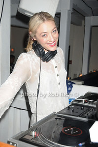 DJ Mia Moretti spins at  the official after party for the FEED Foundation at Georgica Restaurant   (June 18,2011)