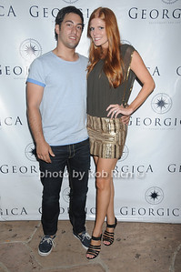 Zach Zamanand  Kate Zaman  attend the Social Life cover party for Rachel Nichols  at Georgica Restaurant   (June 18,2011)