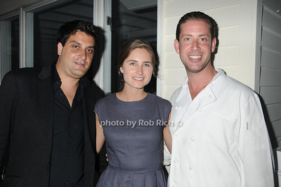 David Schulman, Lauren Bush and Seth Levine attend the official after party for the FEED Foundation at Georgica Restaurant   (June 18,2011)
