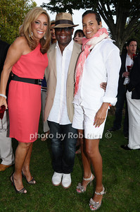 August 7:Southampton (l-r) Denise Rich, LA Reid, Erica Holton attend Gabrielle's Angel Foundation cocktail  party in Southampton on August 7,2009. (photo by Rob Rich/SocietyAllure.com)