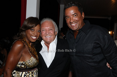 August 7:Southampton (l-r) Star Jones, Marty Richards,Herb Wilson attend Gabrielle's Angel Foundation cocktail  party in Southampton on August 7,2009. (photo by Rob Rich/SocietyAllure.com)