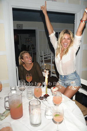 Sports Illustrated swimsuit model Jessica Hart helps her model sister  Ashley Hart celebrate her birthday at Georgica Restaurant and niteclub. (August 13, 2011)