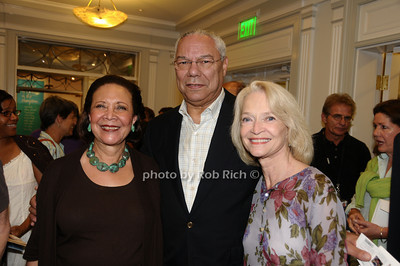 East Hampton-September 5:(l-r)Alma Powell, Colin Powell, and Ruth Applehof, attend  'Emmett, Down In My Heart' At Guild Hall in Easthampton on September 5, 2009. photo by Rob Rich/SocietyAllure.com