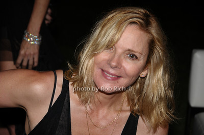 August 15- Bridgehampton:(l-r)  Kim Catrall  attends the  Ellen's Run  benefit  at the home of Steven Klein  in  Bridgehampton on August 1,2009.  photo by Rob Rich /SocietyAllure.com
