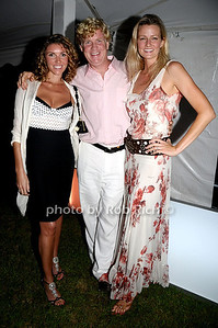 August 15- Bridgehampton:(l-r)  Amy Tunney, Peter Tunney, Natasha Silver  attends the  Ellen's Run  benefit  at the home of Steven Klein  in  Bridgehampton on August 1,2009.  photo by Rob Rich /SocietyAllure.com