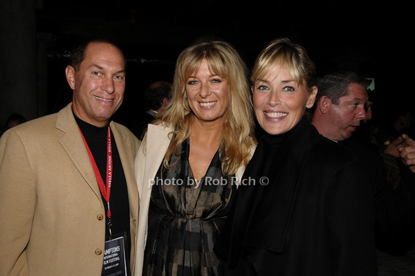 October 9,2009:Stuart Match Suna, Paprika Steen, Sharon Stone attend  the HIFF Sloane reception at the Wolffer Estates in Sagaponack on October 9, 2009. photo by Rob Rich/SocietyAllure.com