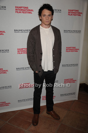 Anton Yelchin attends the HIFF Wolffer Estate party sponsored by Baume & Mercier at the Wolffer Vineyard (October 134, 2011),