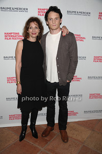 Lina Todd and Anton Yelchin attends the HIFF Wolffer Estate party sponsored by Baume & Mercier at the Wolffer Vineyard (October 134, 2011),