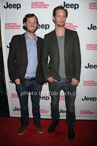 David Nugent and Alexander Skarsgard  attend  the 2nd day of the Hamptons International Film Festival. (October 14, 20110)