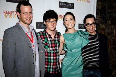 Adam Salky, Ashley Spriger, Emmy Rossum, David Brinde photo by Rob Rich © 2009 robwayne1@aol.com 516-676-3939