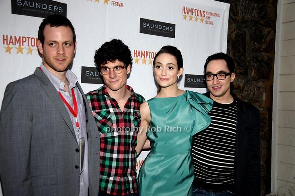 Adam Salky, Ashley Spriger, Emmy Rossum, David Brinde<br /> photo by Rob Rich © 2009 robwayne1@aol.com 516-676-3939