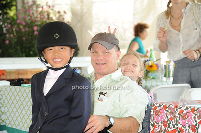 Mimi  Gochman, David, Gochman, and Sophie Gochman attend the Hampton Classic Horseshow Day 3. (September 2, 2011)