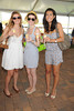 Megan Esteves, Sarah Cox,  and Marzi Alavi attend the Hampton Classic Horseshow Day 3. (September 2, 2011)