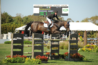 Darragh Kenny copetes at  the Hampton Classic Horseshow Day 3. (September 2, 2011))