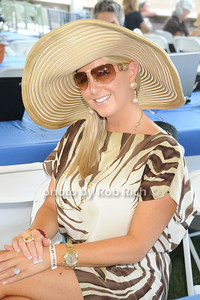 Christina Broderick Greenberg attends the Hampton Classic Horseshow Day 3. (September 2, 2011)